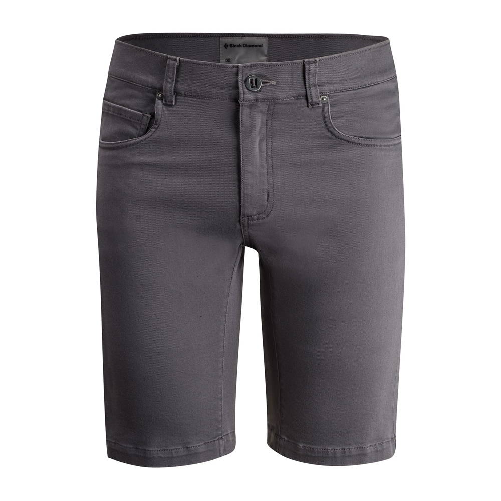 Stretch Font Shorts Slate