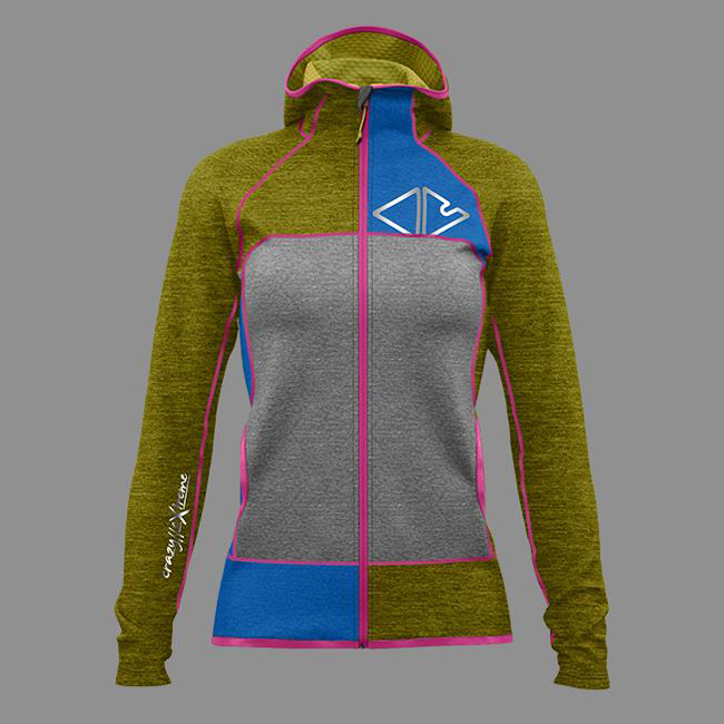 Ionic Jacket Woman Lime Crazy Idea
