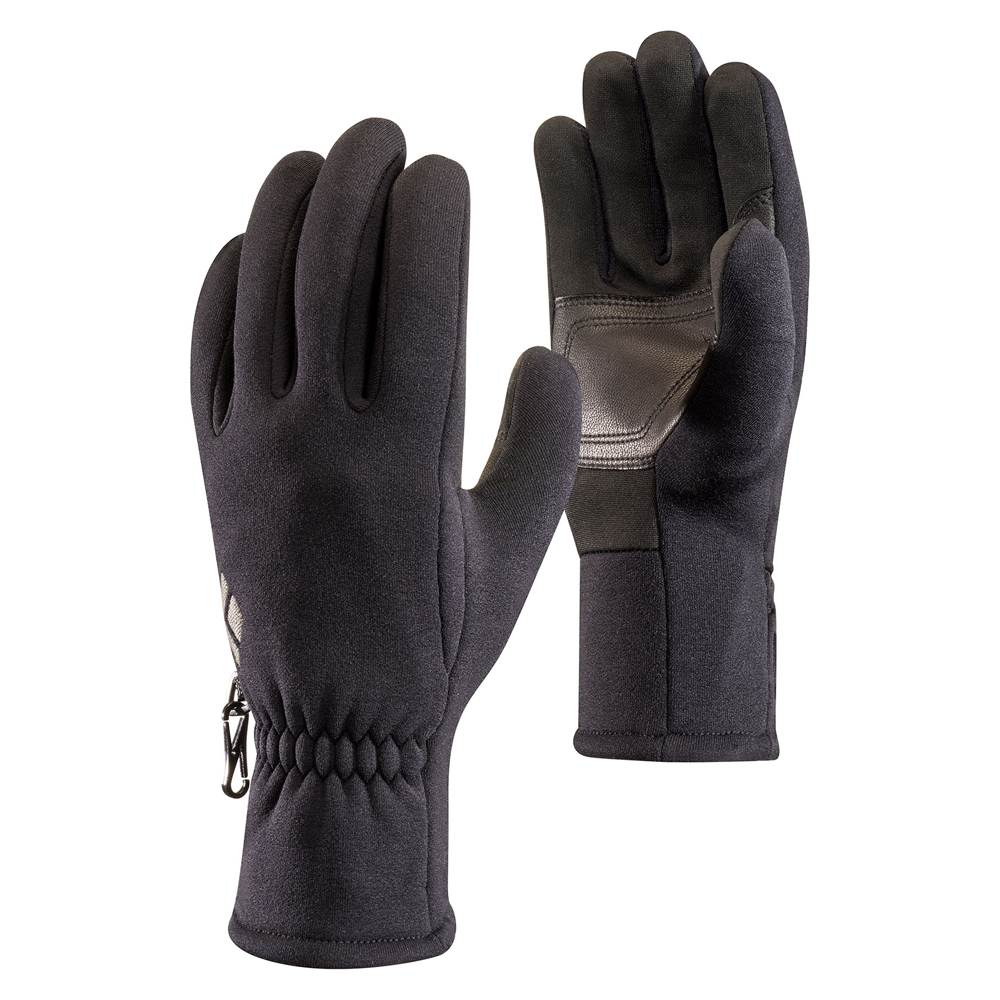 HeavyWeight ScreenTap Fleece Gloves Black Diamond