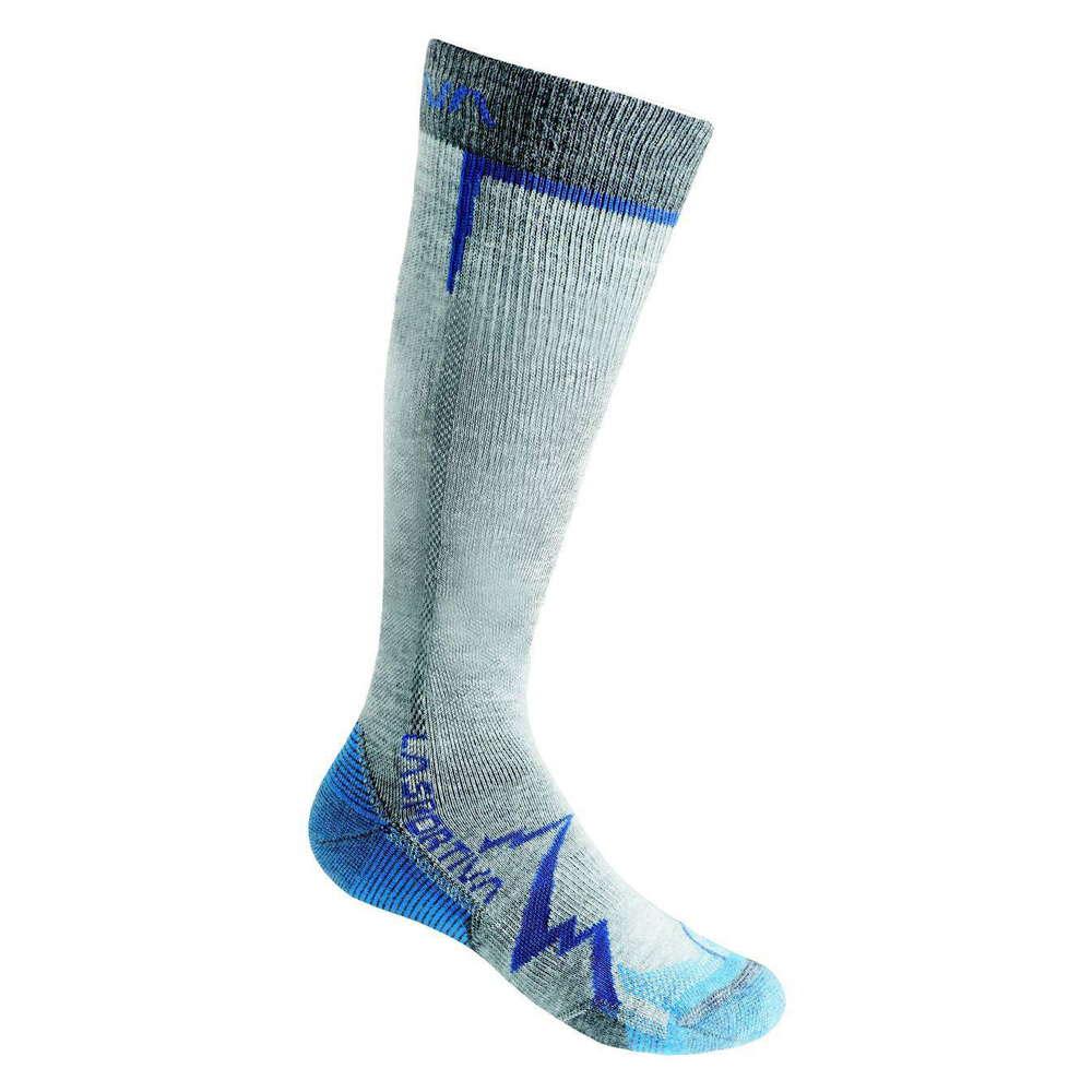 Mountain Long Socks Mid Grey / Blue