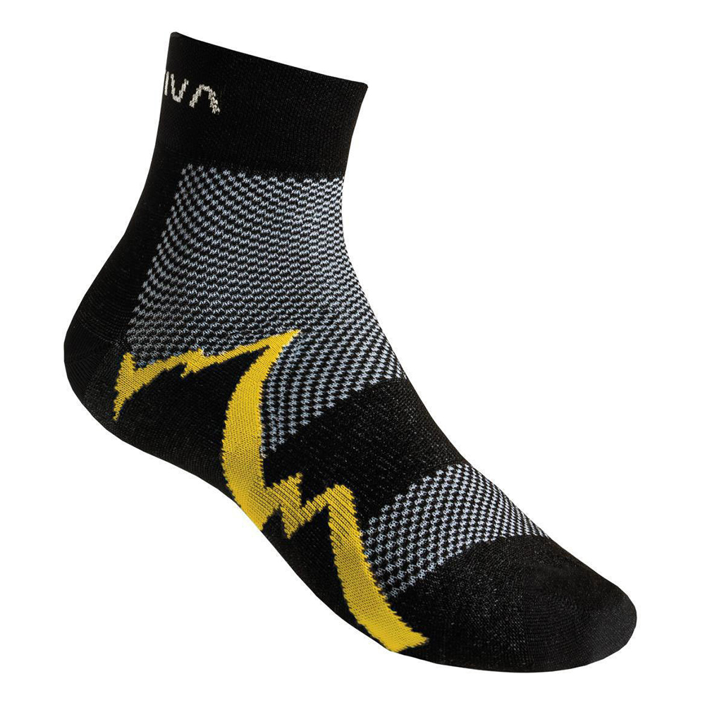 Short Distance Socks Black / Yellow La Sportiva