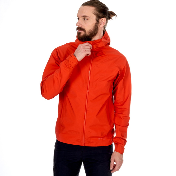 Meron Light Hardshell Jacket Men Dark Orange