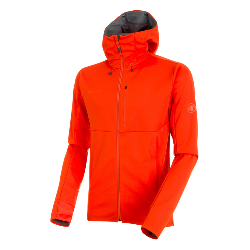 Ultimate V SO Hooded Jacket Men Dark Orange Mammut